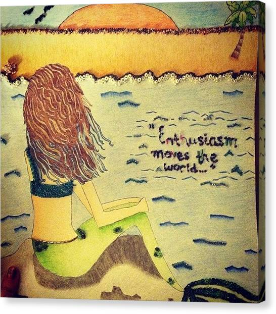 Mermaids Canvas Print - My #ast Big Is So Awesome, She Drew And by Anastasia Lillpopp