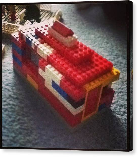 Big Sister Canvas Print - My Bangin Lego House ;) #lego #house by John Lowery-brady