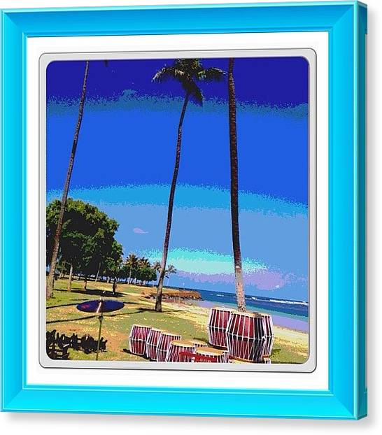 Snares Canvas Print - My #beautiful #morning #alamoana #beach by Terra Chavez
