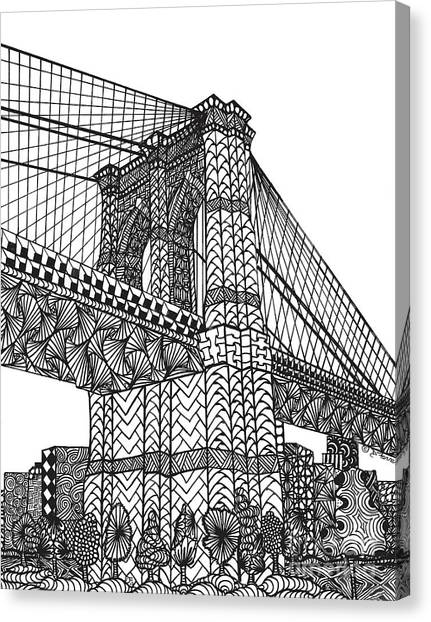 My Beloved Brooklyn Bridge Canvas Print