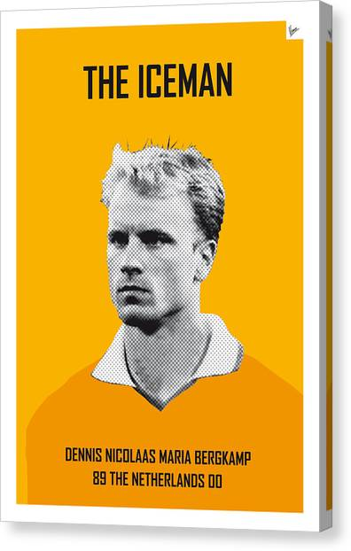 World Cup Canvas Print - My Bergkamp Soccer Legend Poster by Chungkong Art