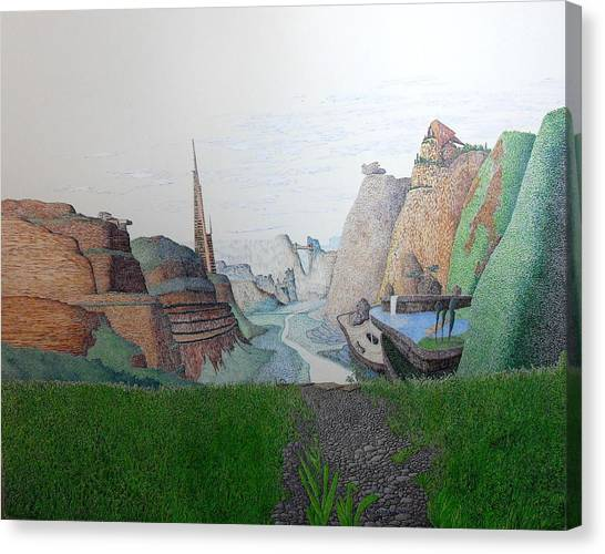 My Bigger Back Yard Canvas Print