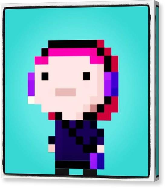 Sprite Canvas Print - My #bitizen 😎 #tinytower #nimblebit by Katrina A