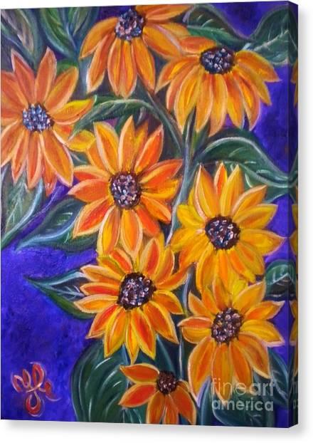 My Black-eye Susans Canvas Print