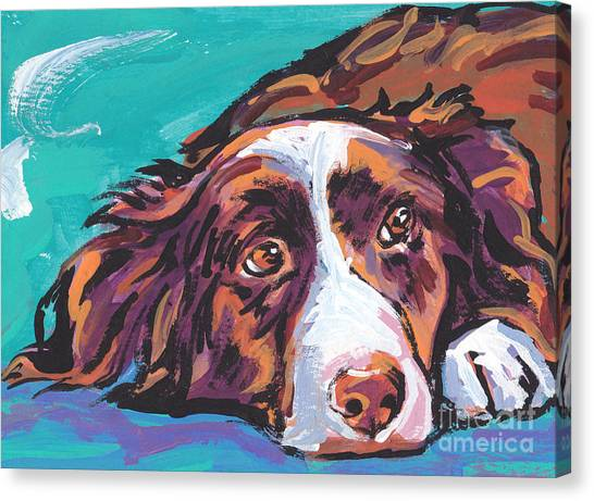 Border Collies Canvas Print - My Border by Lea S