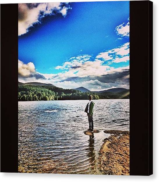Anniversary Canvas Print - My Boy :) #mycamerastories #lochmorlich by Vhairi Walker