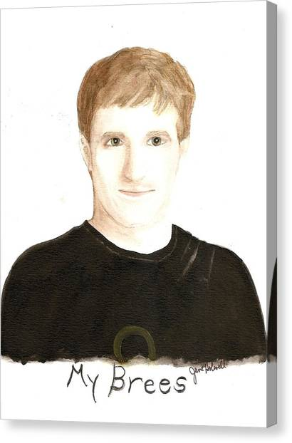 Drew Brees Canvas Print - My Brees by June Holwell