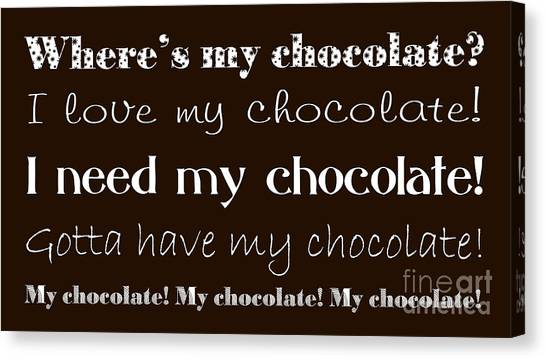 Andee Design Bw Canvas Print - My Chocolate by Andee Design