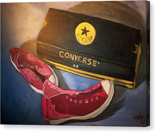 My Chucks - Pink Converse Chuck Taylor All Star - Still Life Painting - Ai P. Nilson Canvas Print