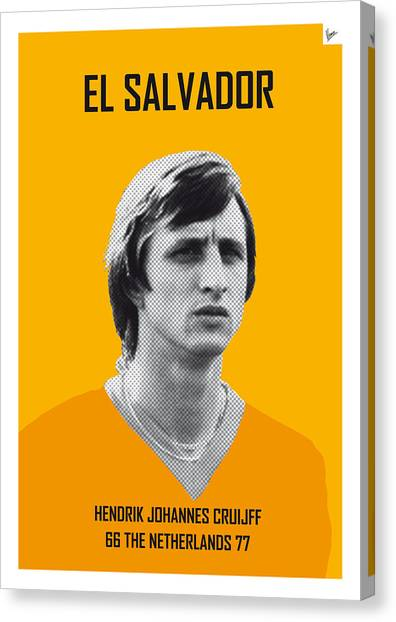 World Cup Canvas Print - My Cruijff Soccer Legend Poster by Chungkong Art