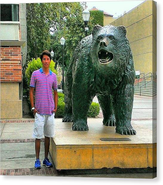 Ucla Canvas Print - My Cuddle Buddy #bigbear #swag #swerve by Wyan Vong