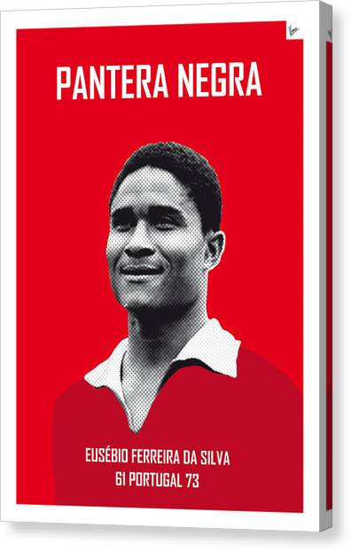 World Cup Canvas Print - My Eusebio Soccer Legend Poster by Chungkong Art