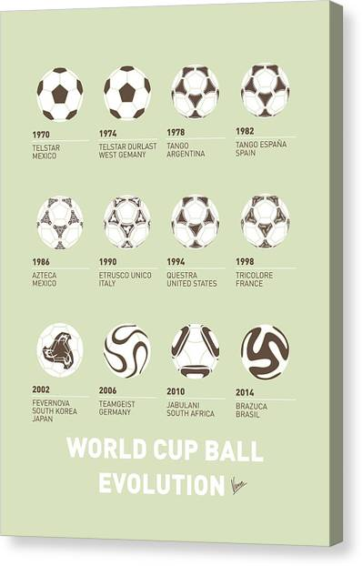 Surfboard Canvas Print - My Evolution Soccer Ball Minimal Poster by Chungkong Art