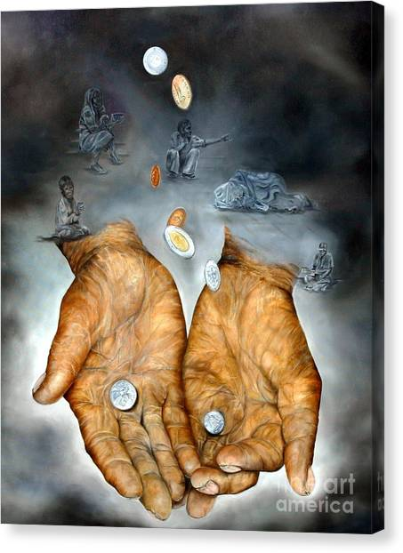 My Father's Hands - Survival Canvas Print