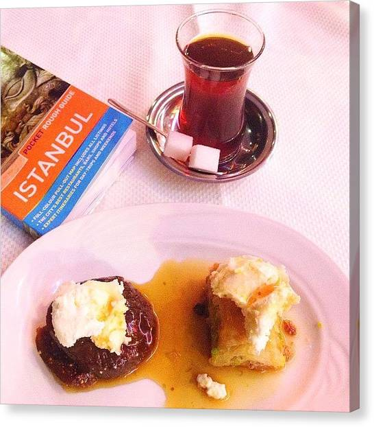 Sweet Tea Canvas Print - My Favorite Tea In The World Is Turkish by Blogatrixx