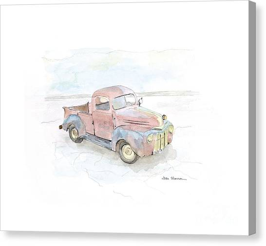 Old Trucks Canvas Print - My Favorite Truck by Joan Sharron