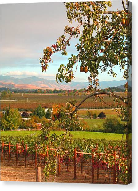 My Favorite Valley View - Autumn In Southern Oregon Canvas Print