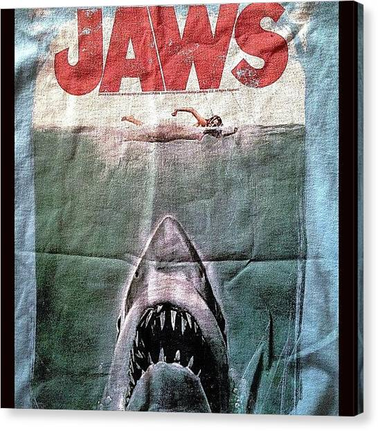 Jaws Canvas Print - My Favourite T-shirt Ever :) #jaws by Niall Thompson