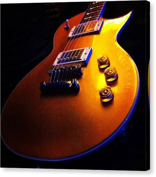 Bass Guitars Canvas Print - My Girl #dontquit #yourday #job #guitar by Josh  Brackenridge