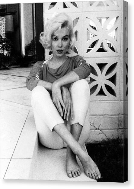 Actors Canvas Print - Marilyn Monroe  by Retro Images Archive