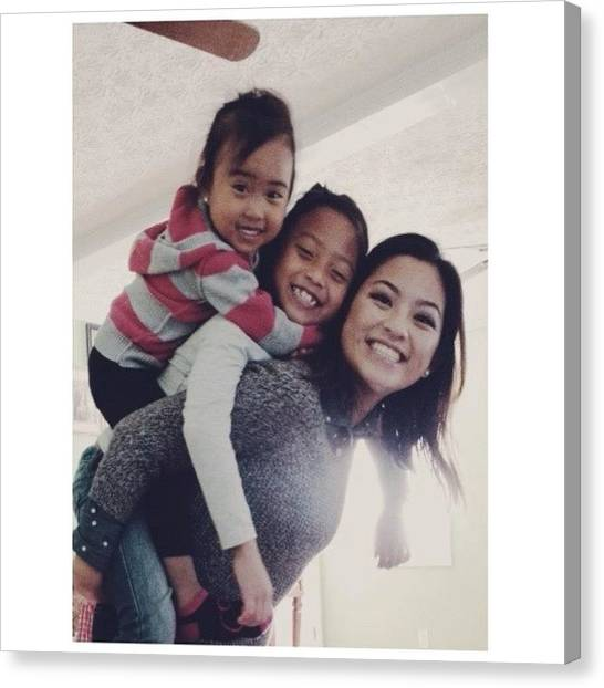 Ponies Canvas Print - My Girls 🐒🐒 #stacked #team by Pony Thao