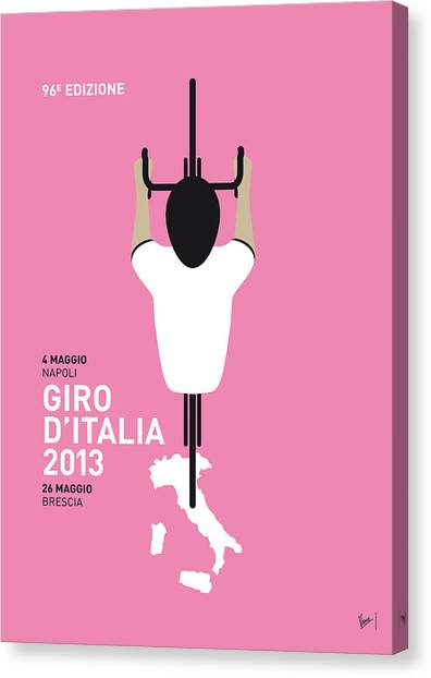 Bicycle Canvas Print - My Giro D'italia Minimal Poster by Chungkong Art