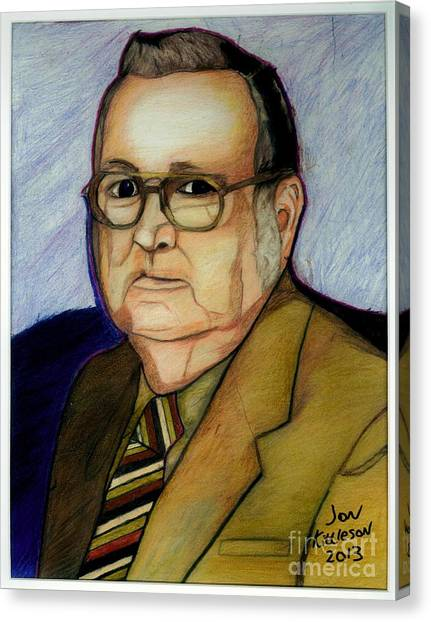 My Grandfather At A Younger Age Canvas Print