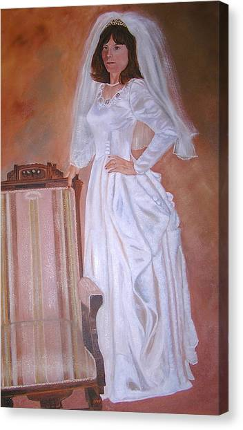 My Grandmothers Chair Canvas Print