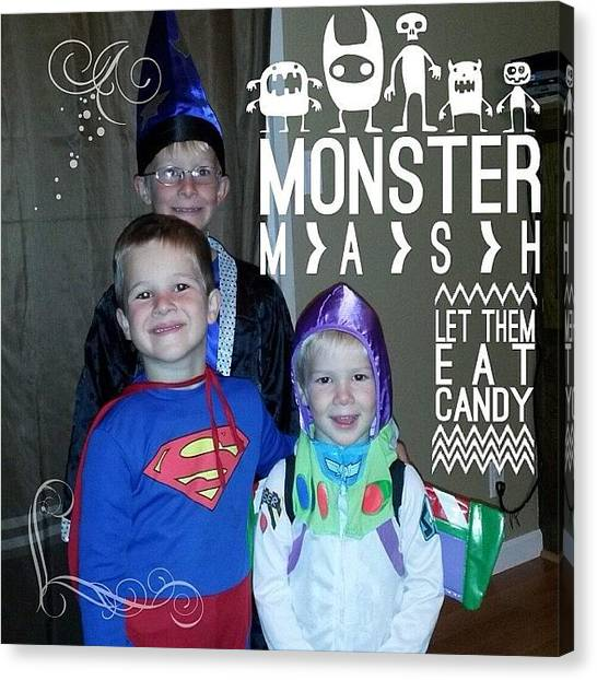 Halloween Canvas Print - My Great Nephews , Brian, Joey And by Teresa Mucha