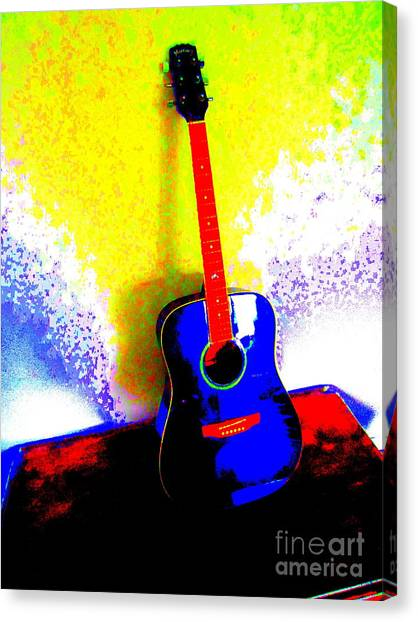 Corde Canvas Print - My Guitar Gently Weeps by Roberto Gagliardi