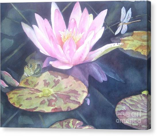 Waterlily Canvas Print - My Handsome Prince by Patricia Pushaw