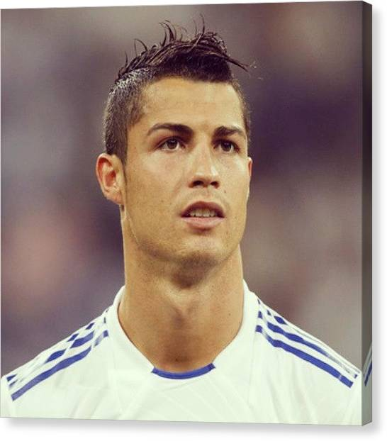 Real Madrid Canvas Print - #my #hero #football #cristiano #happy by Aaron De Wulf