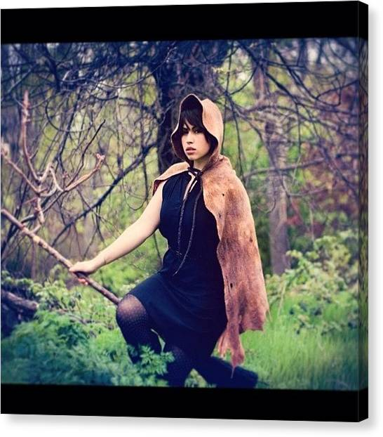 Witches Canvas Print - My Hooded Cape Photoshoot! #felt by Nicole Burton
