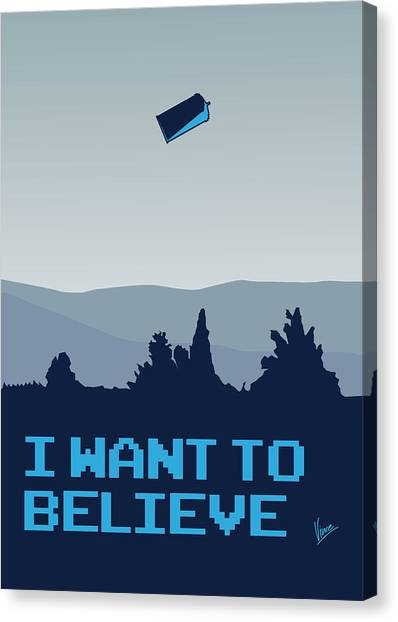Science Fiction Canvas Print - My I Want To Believe Minimal Poster- Tardis by Chungkong Art