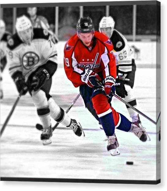 Washington Capitals Canvas Print - My Idol! #hockey #icehockey #nhl by Tim Rye