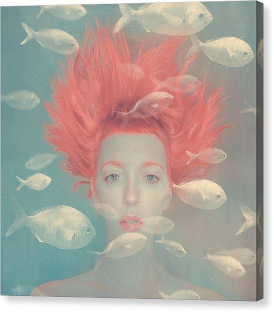 Surrealism Canvas Print - My Imaginary Fishes by Anka Zhuravleva