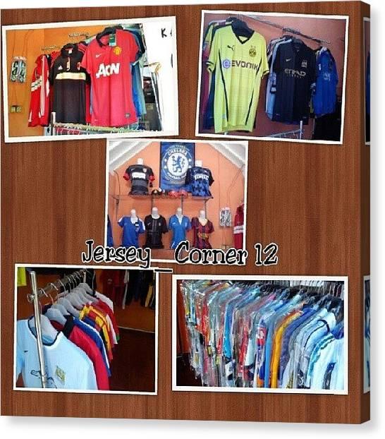 Atletico Madrid Canvas Print - My Jersey Shop  #jersey #jerseygo by Inas Shakira