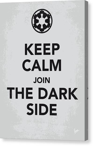 Jedi Canvas Print - My Keep Calm Star Wars - Galactic Empire-poster by Chungkong Art