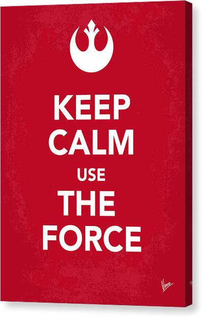 Jedi Canvas Print - My Keep Calm Star Wars - Rebel Alliance-poster by Chungkong Art
