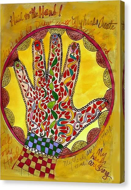 My Left Hand Canvas Print