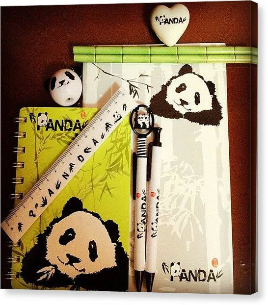 Panda Canvas Print - My Lifelong Weakness. One Of by Evgeniya Slutskaya