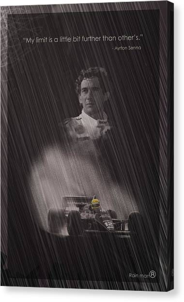 Formula 1 Canvas Print - My Limit Is A Little Bit Further Than Others by Stephane Trahan