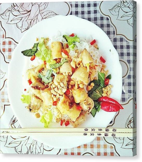 Salad Canvas Print - My Little Lunch;-)bun Cha Gio by Rohiem Ab