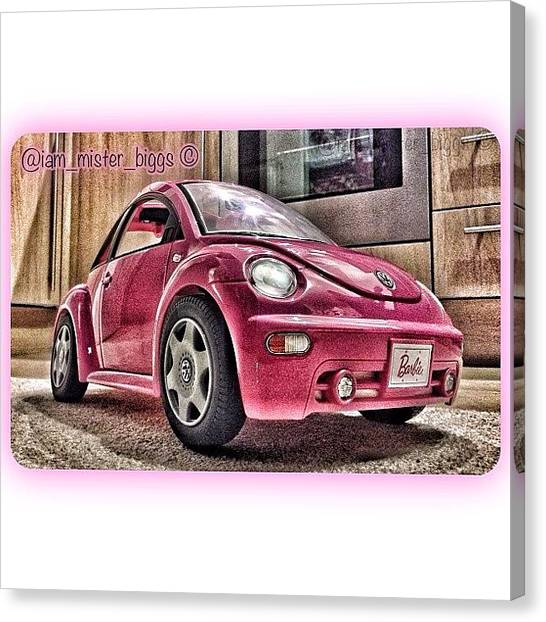 Beetles Canvas Print - My Little Niece's Barbie Toy Car by Ben Armstrong
