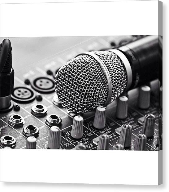 Microphones Canvas Print - My Love 💕 #music #life #mic by Mathilde Uren