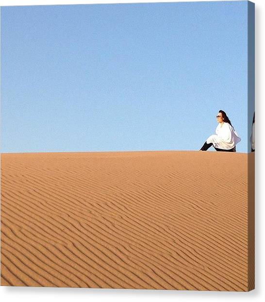 Sahara Desert Canvas Print - My Love For Travel Makes Me Love Life! by Blogatrixx