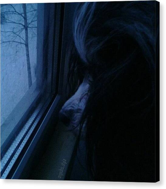 Snowflakes Canvas Print - My Lovely Girl :-* by Angelina Golovina