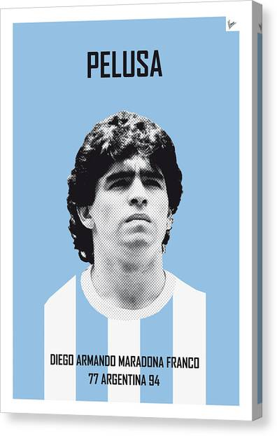 World Cup Canvas Print - My Maradona Soccer Legend Poster by Chungkong Art