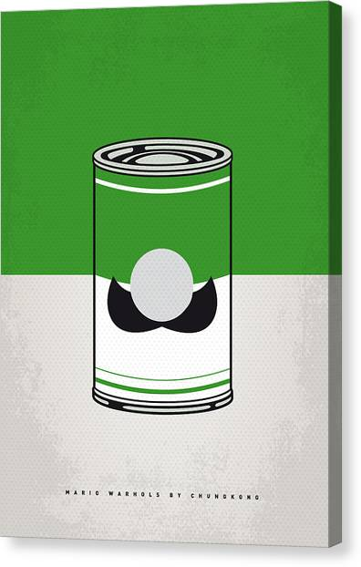 Super Mario Canvas Print - My Mario Warhols Minimal Can Poster-luigi by Chungkong Art