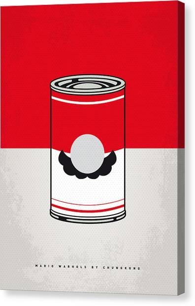 Super Mario Canvas Print - My Mario Warhols Minimal Can Poster-mario by Chungkong Art